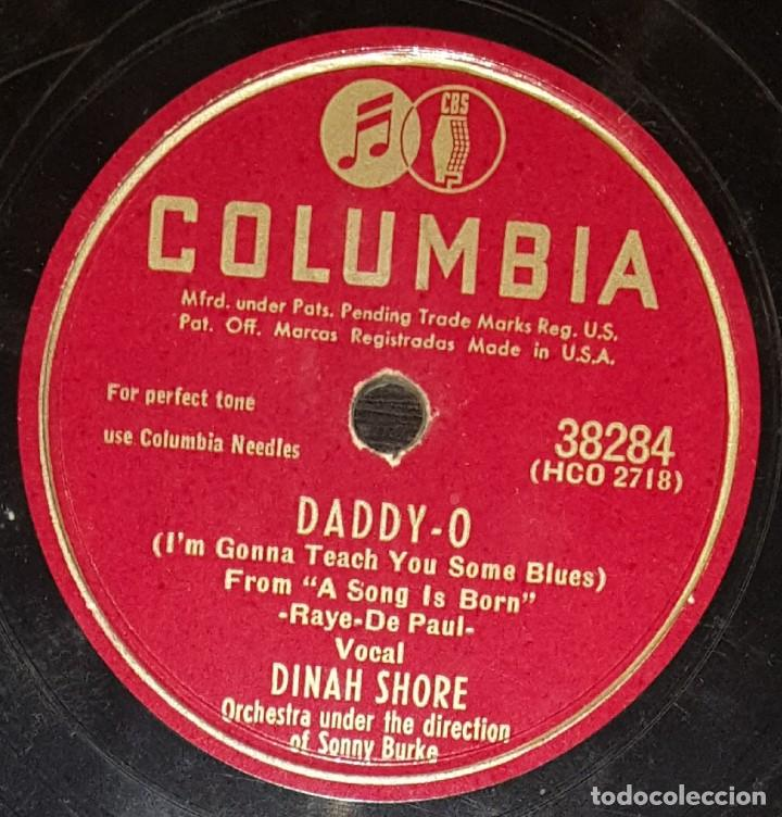 DISCOS 78 RPM - DINAH SHORE - HAPPY VALLEY BOYS - ORQUESTA - DADDY O - BUTTONS AND BOWS - PIZARRA (Música - Discos - Pizarra - Jazz, Blues, R&B, Soul y Gospel)