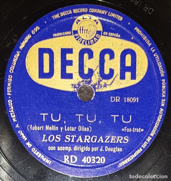 Discos de pizarra: DISCOS 78 RPM - THE STARGAZERS - J. DOUGLAS - VAYA CON DIOS - TÚ, TÚ, TÚ - PIZARRA - Foto 2 - 133891082