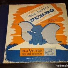 Discos de pizarra: DISCOS 78 RPM - DUMBO - FILM - WALT DISNEY - ORIGINAL - ALBUM - 3 DISCOS - PIZARRA. Lote 133895858