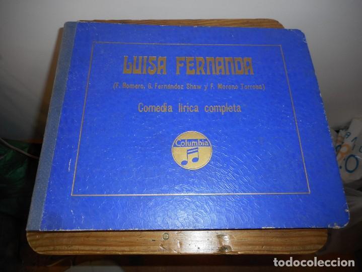LUISA FERNANDA. COMEDIA LÍRICA (Música - Discos - Pizarra - Clásica, Ópera, Zarzuela y Marchas)
