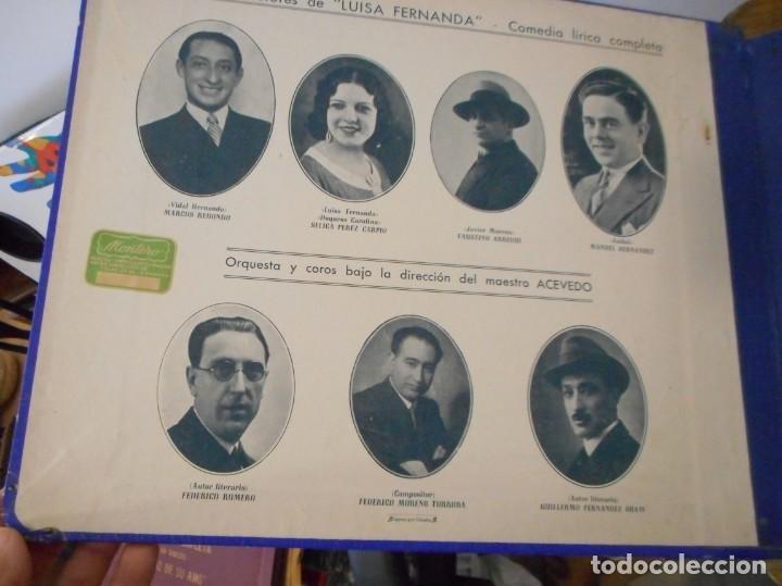 Discos de pizarra: Luisa Fernanda. Comedia lírica - Foto 2 - 134163022