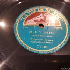 Discos de pizarra: DISCOS 78 RPM EL U Y EL DOTZE. Lote 134322637