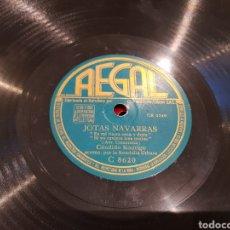 Discos de pizarra: DISCO DE PIZARRA MUY RARO JOTAS NAVARRAS CANDIDO RODRIGUEZ. Lote 134322954