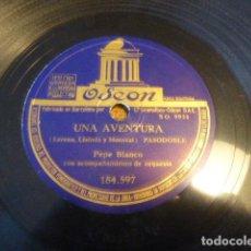 Discos de pizarra: FANI - UNA AVENTURA. PEPE BLANCO. ODEON. 184.597.. Lote 134360238