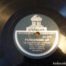 Discos de pizarra: FANDANGUILLO - MALAGUEÑAS DE ENRIQUE DE MELLISO. NIÑA PATROCINIO. ODEON. 181.016.. Lote 134360882
