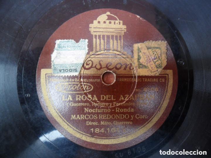 Discos de pizarra: DISCO PIZARRA - ODEON - LA ROSA DEL AZAFRAN - CANCIÓN DEL SEMBRADOR - MARCOS REDONDO Y CORO - Foto 2 - 135058906