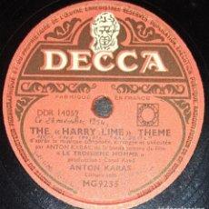 Discos de pizarra: DISCOS 78 RPM - ANTON KARAS - CÍTARA - FILM - EL TERCER HOMBRE - PIZARRA. Lote 135196382