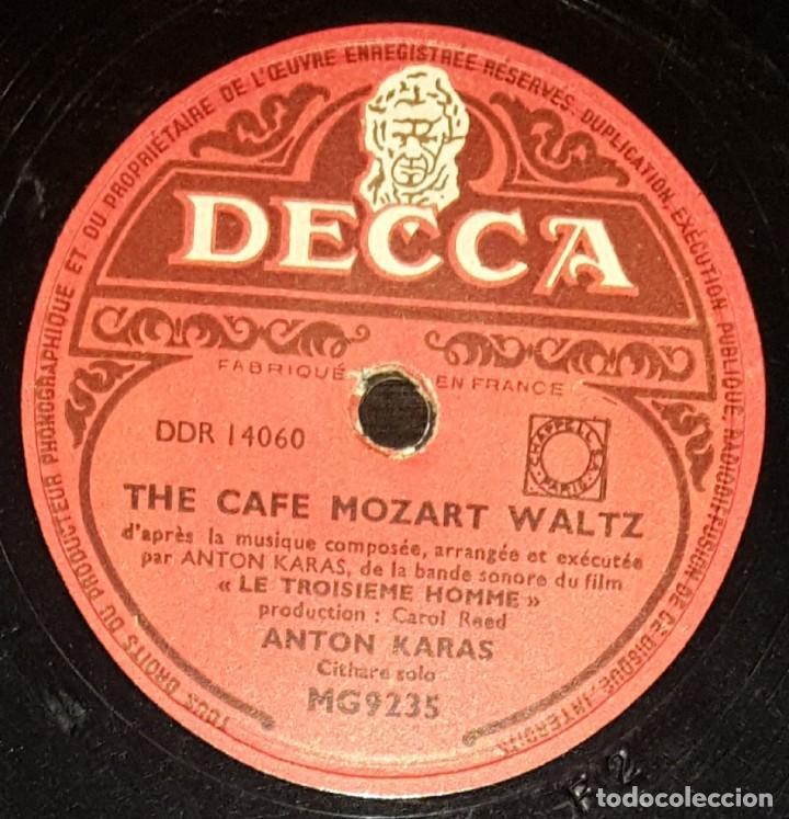 Discos de pizarra: DISCOS 78 RPM - ANTON KARAS - CÍTARA - FILM - EL TERCER HOMBRE - PIZARRA - Foto 2 - 135196382