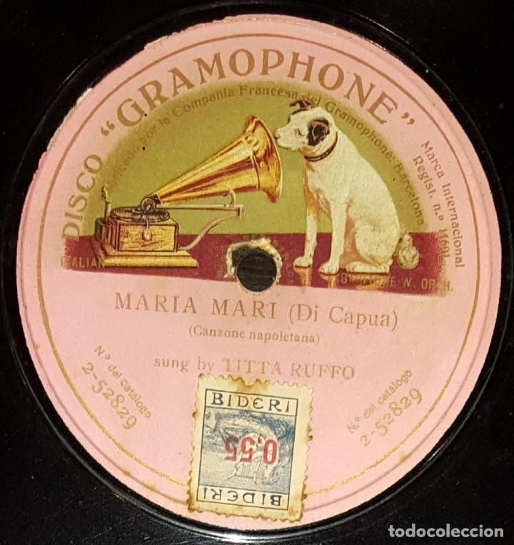 DISCOS 78 RPM - TITTA RUFFO - BARÍTONO - MARIA MARI - DI CAPUA - PIZARRA (Música - Discos - Pizarra - Clásica, Ópera, Zarzuela y Marchas)
