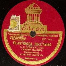 Discos de pizarra: DISCOS 78 RPM - CONCHITA SUPERVÍA - MEZZOSOPRANO - CANCIÓN ITALIANA - PIZARRA. Lote 135201862