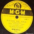 Discos de pizarra: DISCOS 78 RPM - SILVANA MANGANO - ORQUESTA - BAION DE ANA - EL NEGRO ZUMBÓN - MGM - PIZARRA. Lote 135392274