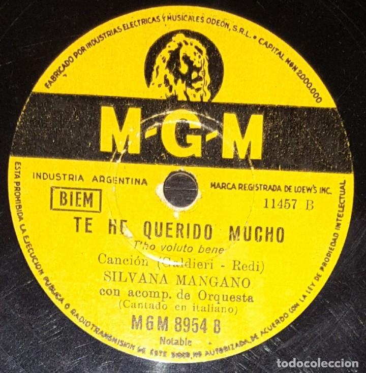 Discos de pizarra: DISCOS 78 RPM - SILVANA MANGANO - ORQUESTA - BAION DE ANA - EL NEGRO ZUMBÓN - MGM - PIZARRA - Foto 2 - 135392274