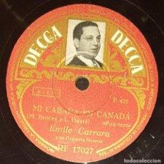 Discos de pizarra: DISCOS 78 RPM - ÉMILE CARRARA - ACORDEÓN - ORQUESTA - FOTO ETIQUETA - FRANCIA - PIZARRA. Lote 135393398
