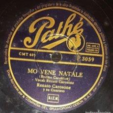 Discos de pizarra: DISCOS 78 RPM - RENATO CAROSONE - CUARTETO - CANCIÓN NAPOLITANA - R&R - MO VENE NATALE - PIZARRA. Lote 135714967