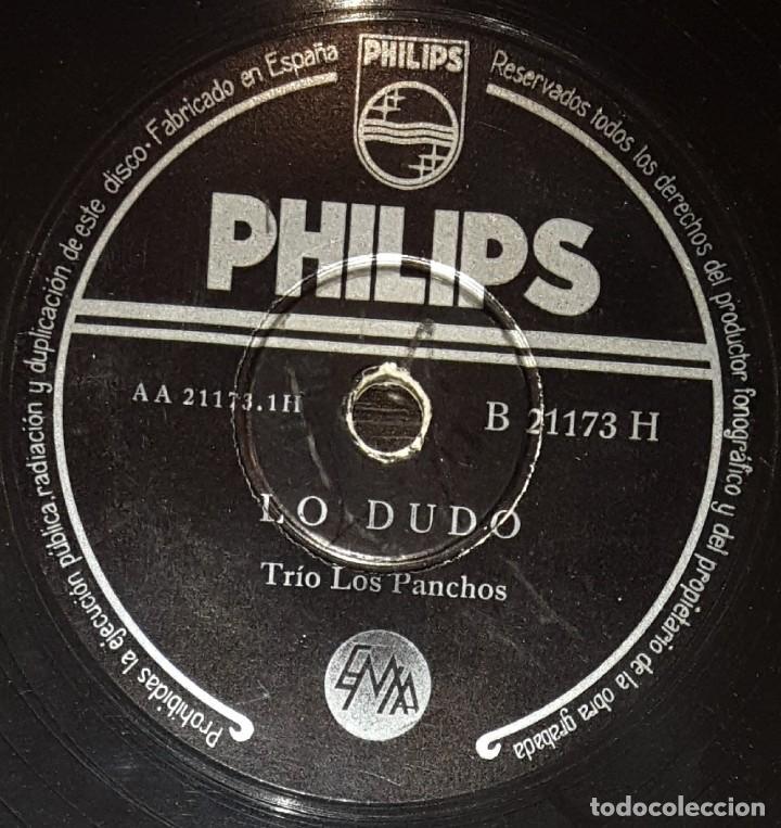 DISCOS 78 RPM - TRÍO LOS PANCHOS - BOLEROS - LO DUDO - VAYA CON DIOS - PIZARRA (Música - Discos - Pizarra - Otros estilos)