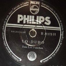 Discos de pizarra: DISCOS 78 RPM - TRÍO LOS PANCHOS - BOLEROS - LO DUDO - VAYA CON DIOS - PIZARRA. Lote 135719691
