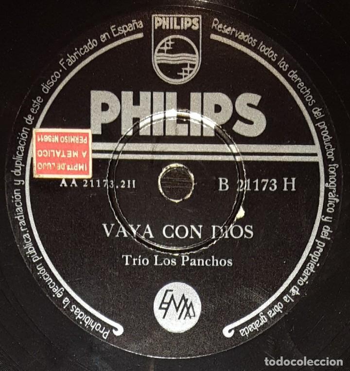 Discos de pizarra: DISCOS 78 RPM - TRÍO LOS PANCHOS - BOLEROS - LO DUDO - VAYA CON DIOS - PIZARRA - Foto 2 - 135719691