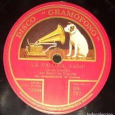 Discos de pizarra: DISCOS 78 RPM - EMILIO DE GOGORZA - BARÍTONO - ORQUESTA - CANCIÓN AMERICANA - LA PALOMA - PIZARRA. Lote 135721091