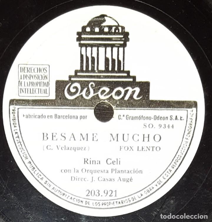 DISCOS 78 RPM - RINA CELI - ORQUESTA PLANTACIÓN - FOX - BÉSAME MUCHO - FRANQUEZA - PIZARRA (Música - Discos - Pizarra - Flamenco, Canción española y Cuplé)