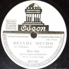 Discos de pizarra: DISCOS 78 RPM - RINA CELI - ORQUESTA PLANTACIÓN - FOX - BÉSAME MUCHO - FRANQUEZA - PIZARRA. Lote 135817798