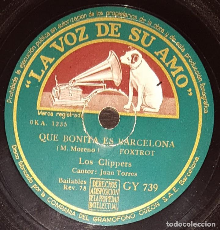 DISCOS 78 RPM - LOS CLIPPERS - JUAN TORRES - QUE BONITA ES BARCELONA - FOXTROT - PIZARRA (Música - Discos - Pizarra - Jazz, Blues, R&B, Soul y Gospel)