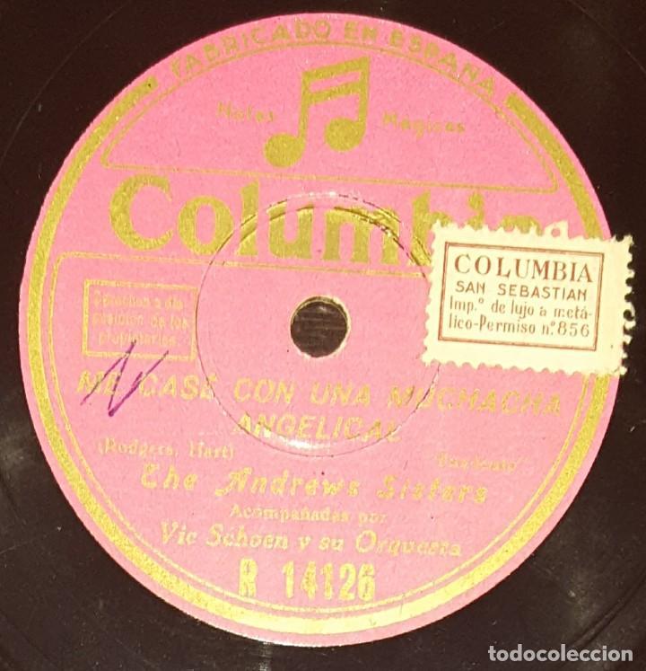 Discos de pizarra: DISCOS 78 RPM - THE ANDREWS SISTERS - ORQUESTA - VIC SCHOEN - FOXTROT - PENSYLVANIA POLCA - PIZARRA - Foto 2 - 135820310