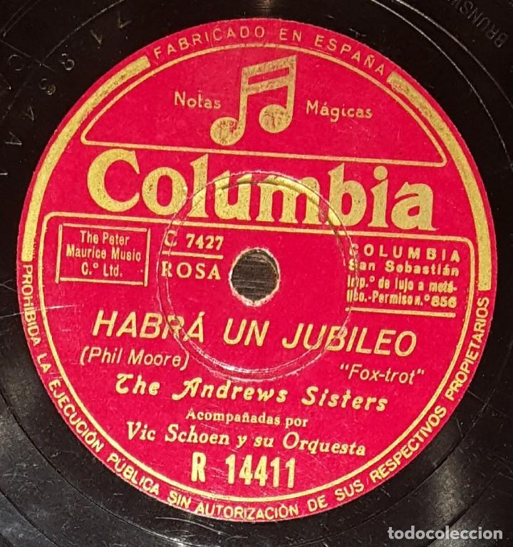Discos de pizarra: DISCOS 78 RPM - THE ANDREWS SISTERS - ORQUESTA - VIC SCHOEN - SAMBA - TICO TICO - PIZARRA - Foto 2 - 135823094