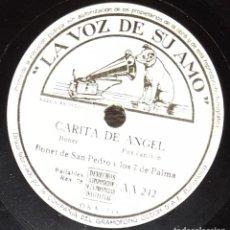 Discos de pizarra: DISCOS 78 RPM - BONET DE SAN PEDRO Y LOS 7 DE PALMA - CARITA DE ÁNGEL - ESTE ES ARRUZA - PIZARRA. Lote 135824810