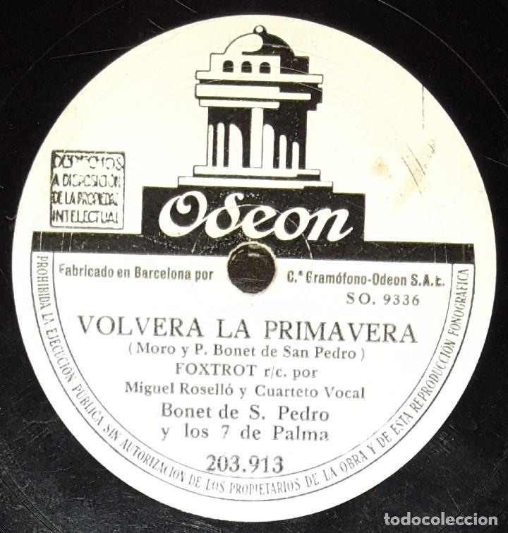 Discos de pizarra: DISCOS 78 RPM - BONET DE SAN PEDRO Y LOS 7 DE PALMA - FOX - BAJO EL CIELO DE PALMA - PIZARRA - Foto 2 - 135867334