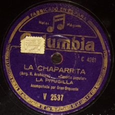 Discos de pizarra: DISCOS 78 RPM - LA PITUSILLA - ORQUESTA - ASTURIAS - POPULAR - LA CHAPARRITA - TIROLI - PIZARRA. Lote 135873902