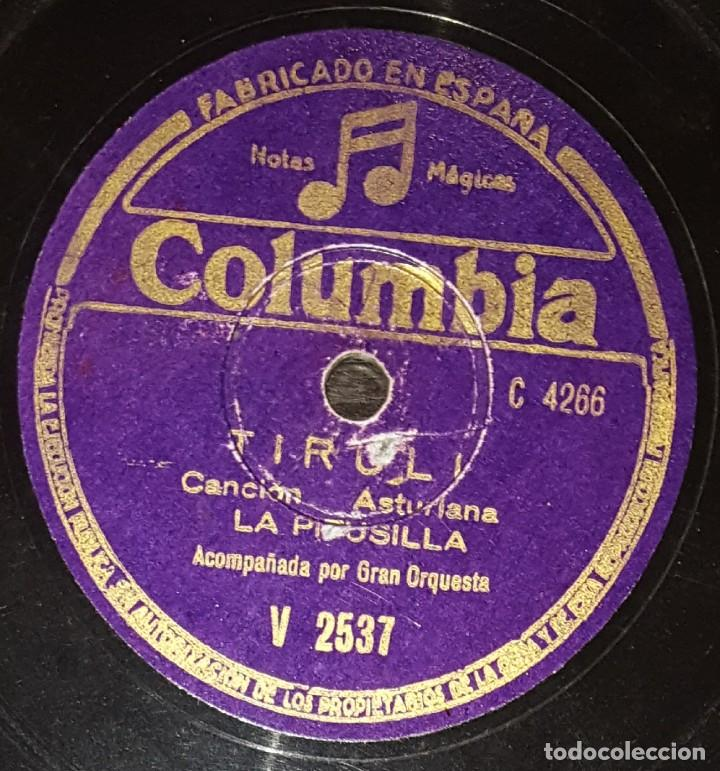 Discos de pizarra: DISCOS 78 RPM - LA PITUSILLA - ORQUESTA - ASTURIAS - POPULAR - LA CHAPARRITA - TIROLI - PIZARRA - Foto 2 - 135873902