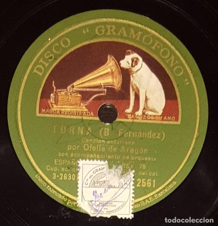 DISCOS 78 RPM - OFELIA DE ARAGÓN - ORQUESTA - ASTURIAS - TORNA - LOS MINEROS DEL FONDON - PIZARRA (Música - Discos - Pizarra - Flamenco, Canción española y Cuplé)