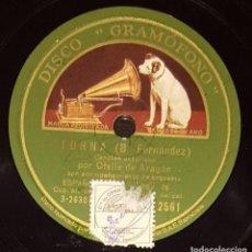Shellac Records - DISCOS 78 RPM - OFELIA DE ARAGÓN - ORQUESTA - ASTURIAS - TORNA - LOS MINEROS DEL FONDON - PIZARRA - 135875450