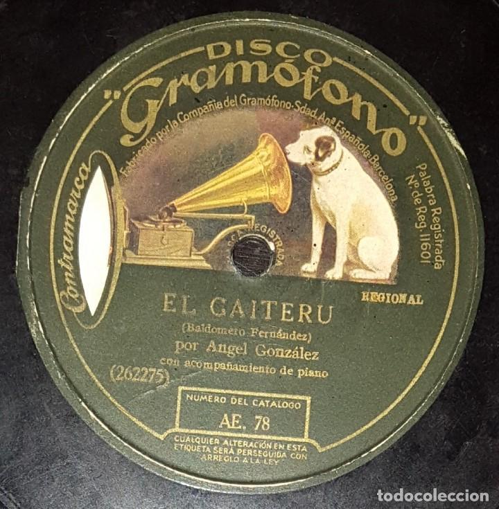 Discos de pizarra: DISCOS 78 RPM - CLAVEROL - MARCELO EL DEL FRESNO - GAITA - A. GONZÁLEZ - PIANO - ASTURIAS - PIZARRA - Foto 2 - 136009502