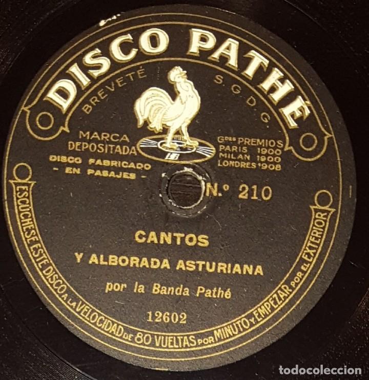 DISCOS 78 RPM - BANDA PATHÉ - 10 1/2 PULGADAS - CANTOS Y ALBORADA ASTURIANA - MONTAÑESES - PIZARRA (Música - Discos - Pizarra - Flamenco, Canción española y Cuplé)