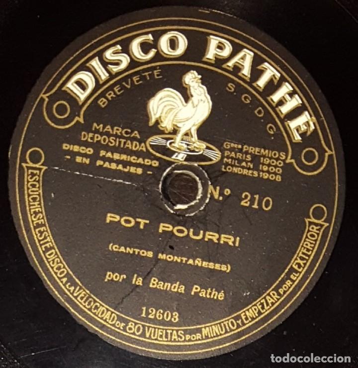 Discos de pizarra: DISCOS 78 RPM - BANDA PATHÉ - 10 1/2 PULGADAS - CANTOS Y ALBORADA ASTURIANA - MONTAÑESES - PIZARRA - Foto 2 - 136010166