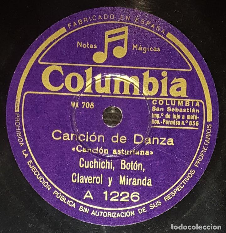 DISCOS 78 RPM - CUCHICHI, BOTÓN, CLAVEROL, MIRANDA - ASTURIAS - CANCIÓN DE DANZA - PIZARRA (Música - Discos - Pizarra - Flamenco, Canción española y Cuplé)