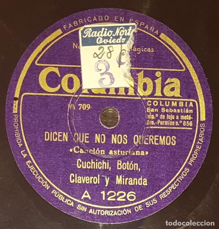 Discos de pizarra: DISCOS 78 RPM - CUCHICHI, BOTÓN, CLAVEROL, MIRANDA - ASTURIAS - CANCIÓN DE DANZA - PIZARRA - Foto 2 - 136011342