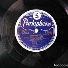 "Discos de pizarra: SANTO ""PECK"" PECORA + BACK ROOM BOYS, 1947: MAGNOLIA BLUES – I NEVER KNEW WHAT A GAL COULD DO-R-3050. Lote 136154442"
