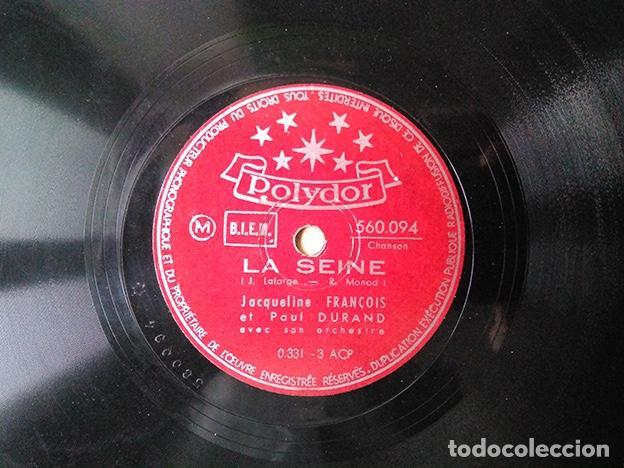 JACQUELINE FRANÇOIS ET PAUL DURAND, 1948: LA SEINE – SI TU PARTAIS – 560.094 (Música - Discos - Pizarra - Solistas Melódicos y Bailables)