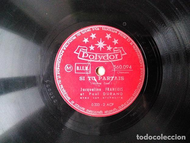 Discos de pizarra: Jacqueline François et Paul Durand, 1948: La Seine – Si tu partais – 560.094 - Foto 2 - 136154626