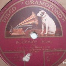 Discos de pizarra: LUISA VELA Y SAGI BARBA - BOHEMIOS (VIVES). CON MAESTRO MARQUINA. Lote 136248706