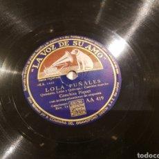 Discos de pizarra: DISCOS 78 RPM. Lote 136252056