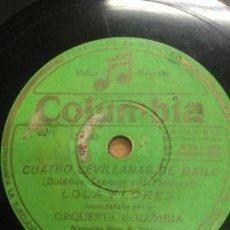 Discos de pizarra: DISCO PIZARRA LOLA FLORES CUATRO SEVILLANAS DE BAILE EDITADO POR COLUMBIA. Lote 136482538