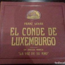 Discos de pizarra: ESTUCHE DE DISCOS DE PIZARRA -EL CONDE DE LUXEMBURGO (FRANZ LEHÁR)- LA VOZ DE SU AMO. Lote 137143098