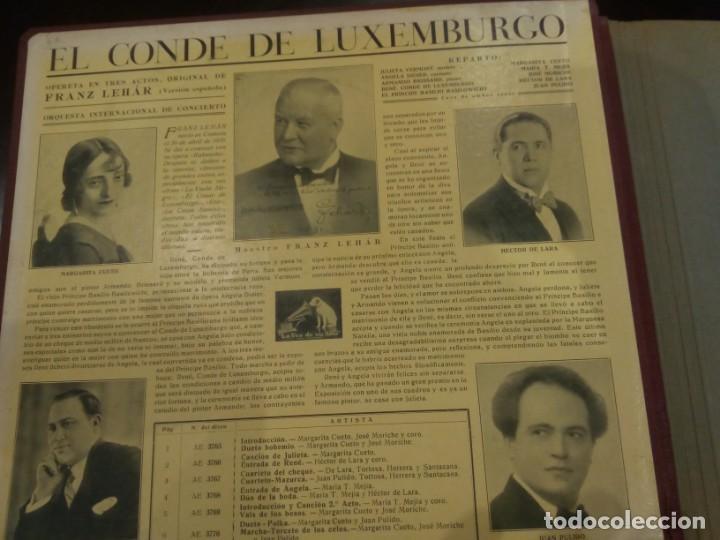 Discos de pizarra: ESTUCHE DE DISCOS DE PIZARRA -EL CONDE DE LUXEMBURGO (FRANZ LEHÁR)- LA VOZ DE SU AMO - Foto 2 - 137143098