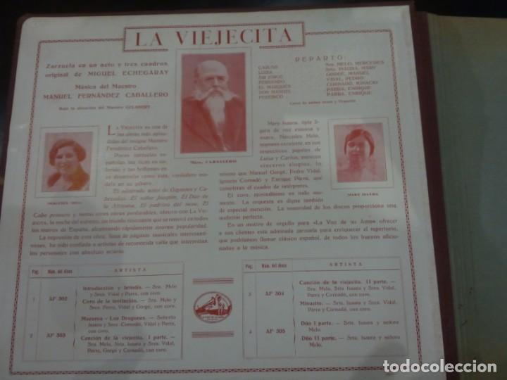 Discos de pizarra: ESTUCHE DE DISCOS DE PIZARRA -LA VIEJECITA (M.F. CABALLERO)- LA VOZ DE SU AMO - Foto 2 - 137143410