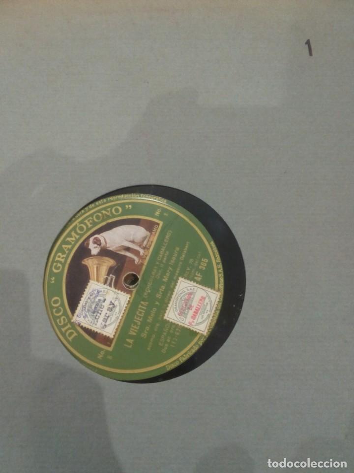 Discos de pizarra: ESTUCHE DE DISCOS DE PIZARRA -LA VIEJECITA (M.F. CABALLERO)- LA VOZ DE SU AMO - Foto 3 - 137143410