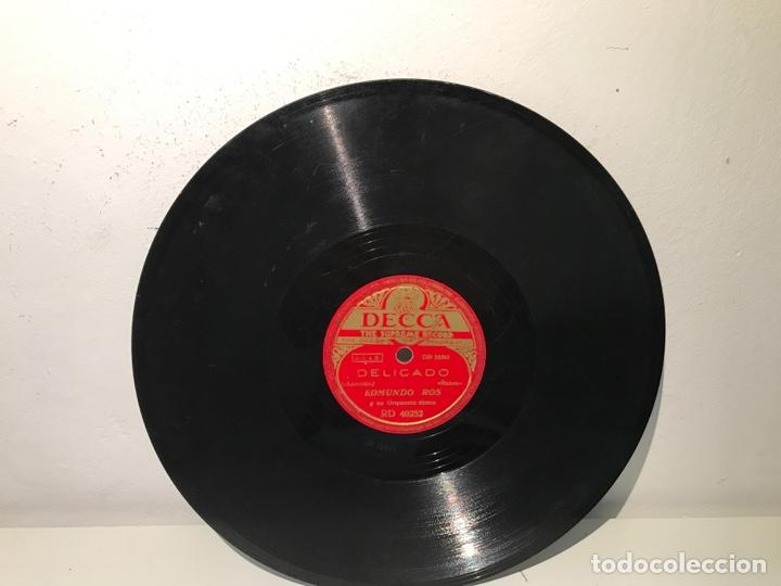 Discos de pizarra: Disco de pizarra DECCA Peladiño- Delicado Edmundo Ros - Foto 2 - 137506717