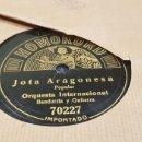 Discos de pizarra: DISCOS 78 RPM JOTA ARAGONESA. Lote 137899982